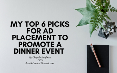 My Top 6 Picks for Digital Ad Placement to Promote a Dinner Event